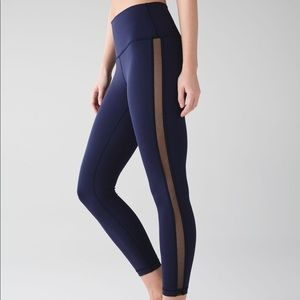 Lululemon High Times Pant (Wing Mesh) Navy size 8